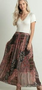 Free People Inspired Pleated maxi Skirt